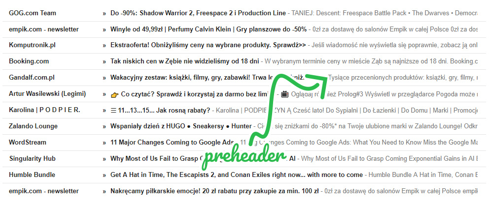 E-mail marketing - przykłady