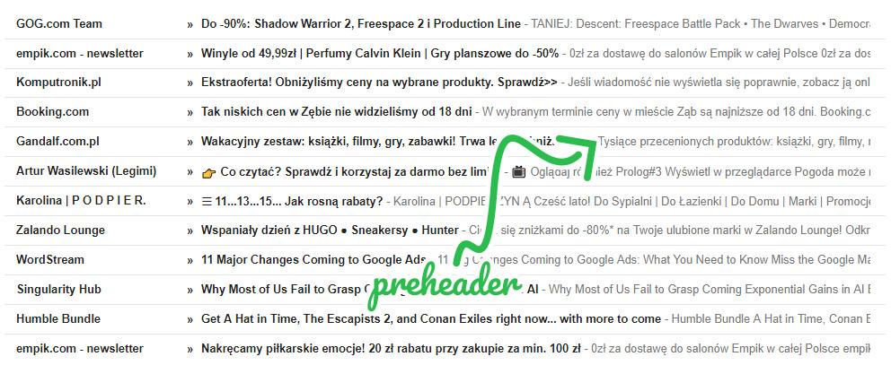 E-mail marketing - przykłady