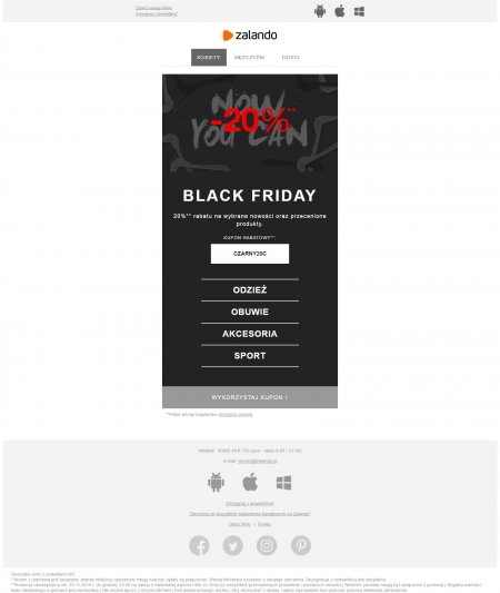 Czarny Piątek (Black Friday) - e-mail marketing